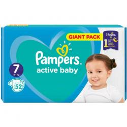 Pampers Active Baby pampersy 7 XXLarge (15+kg) 52 sztuki