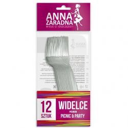 Anna Zaradna widelce transparentne 12 sztuk