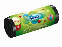 Cluo worki na śmieci HD 60l 50 sztuk czarne