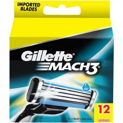 Gillette Mach3 ostrza do maszynki 12 sztuk