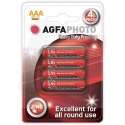AgfaPhoto baterie cynkowe AAA R03 1,5V 4szt