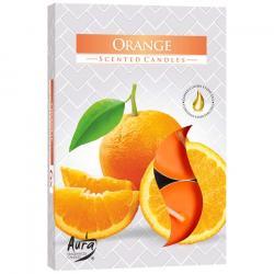 BISPOL świece zapachowe 6szt pomarańcza