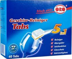 ORO tabletki do mycia w zmywarkach 5w1 40 sztuk