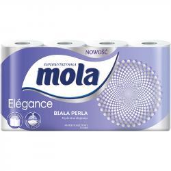 Mola elegance papier toaletowy trzywarstwowy, biała perła 8 sztuk