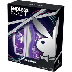 Playboy zestaw Endless Night damski dezodorant perfumowany 75ml + żel pod prysznic 250ml
