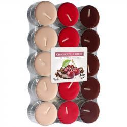 BISPOL świece zapachowe 30szt czekolada / wiśnia