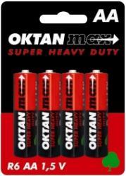 Oktan baterie cynkowe AA R6 1,5V 4szt.