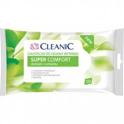 Cleanic Chusteczki do higieny intymnej 10 sztuk Super Comfort