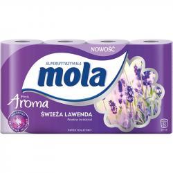 Mola Aroma papier toaletowy dwuwarstwowy Świeża Lawenda 8 sztuk