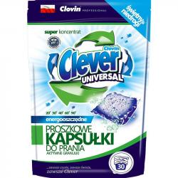 Clever kapsułki proszkowe do prania 30 sztuk Universal