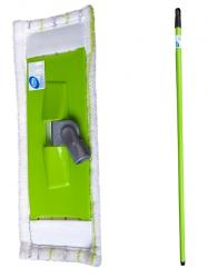 Cluo mop płaski zestaw z trzonkiem mikrofibra