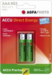 AgfaPhoto akumulatorki ACCU Direct AAA R03 1,2V 2szt