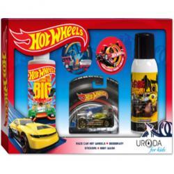 Bi-es Hot Wheels zestaw D-Muscle dezodorant + żel pod prysznic + naklejki + samochodzik