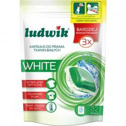 Ludwik kapsułki do prania tkanin białych 32szt