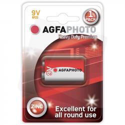 AgfaPhoto baterie cynkowe 6F22 9V 1szt