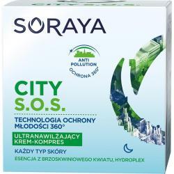 Soraya City S.O.S krem nawilżający na noc każdy typ skóry 50ml