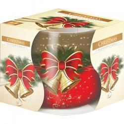 Bispol świeca zapachowa w szkle Boże Narodzenie