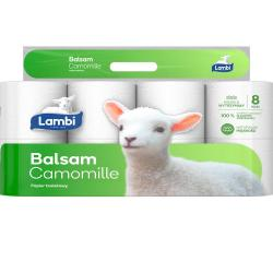 Lambi papier toaletowy,3warst.,8rolek Balsam Camomille