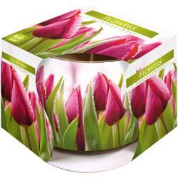 Bispol świeca zapachowa w szkle kwiaty 1szt