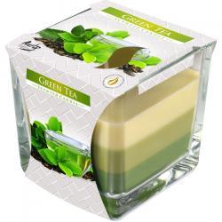 BISPOL świeca zapachowa trójkolorowa zielona herbata 1szt