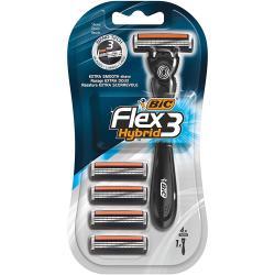 Bic Flex 3 Hybrid maszynka + 4 wkłady