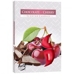 BISPOL świece zapachowe 6szt czekolada / wiśnia