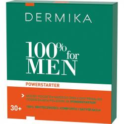 Dermika zestaw 100% for MEN 30+ hydro-krem 100ml + żel & peeling & maska 20ml