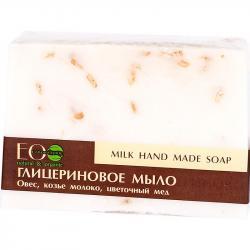 EOlab glicerynowe mydło w kostce 130g Mleko i Miód