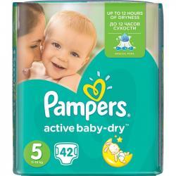 Pampers Active Baby Dry pieluszki 5 42szt