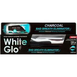 White Glo pasta do zębów czarna 150ml Bad Breath Eliminator+ szczoteczka