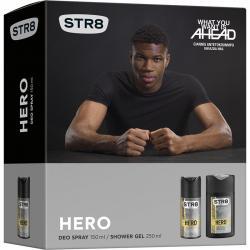 STR8 zestaw Hero dezodorant 150ml + żel pod prysznic 250ml