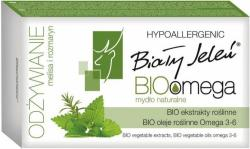 Biały Jeleń Bio Omega odżywianie melisa i rozmaryn mydło naturalne 85g
