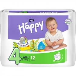 Bella Happy pieluszki Maxi 4 (8-18kg) 12 sztuk