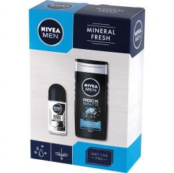 Nivea MEN zestaw Mineral Fresh zel pod prysznic + roll-on