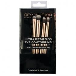 Revolution pędzle do konturowania Ultra Metals Go Eye Contouring