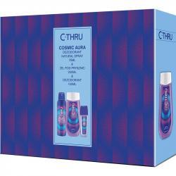 C-THRU zestaw Cosmic Aura dezodorant perfumowany 75ml + dezodorant 150ml + żel pod prysznic 250ml