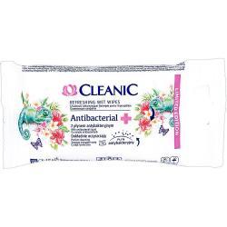 Cleanic Chusteczki nawilżane 15 sztuk Antybakteryjne