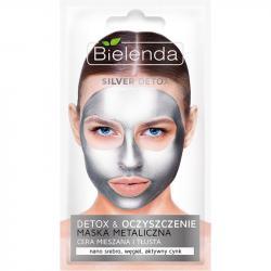 Bielenda maska metaliczna oczyszczająca silver detox 8g