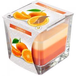 BISPOL świeca zapachowa trójkolorowa pomarańcza 1szt