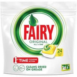 Fairy All In One kapsułki do zmywarki 24 szt. Lemon