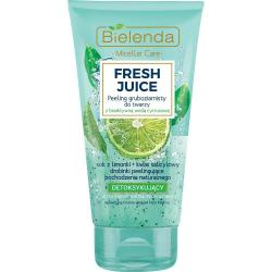 Bielenda Fresh Juice gruboziarnisty peeling do twarzy 150g Limonka