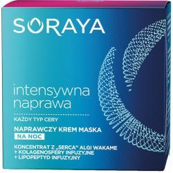 -25% wyprzedaż Soraya Intensywna naprawa krem maska naprawczy na noc 50ml
