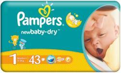 Pampers pieluszki 1 Newborn (2-5 kg) 43 szt.