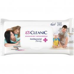 Cleanic Chusteczki nawilżane 60 sztuk Antibacterial