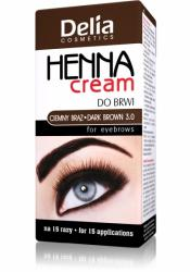 Delia Henna Cream do brwi i rzęs brązowa