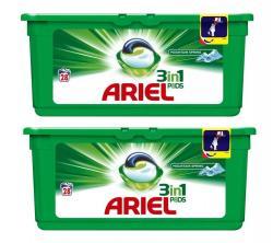 Ariel kapsułki do prania bieli 3w1 28x2 szt. mountain spring