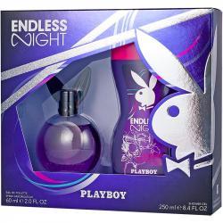 Playboy zestaw Endless Night damski woda toaletowa 60ml + żel pod prysznic 250ml