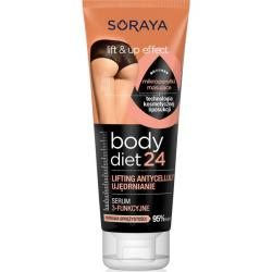 Soraya Body Diet 24 serum 3-funkcyjne ujędrnianie, lifting, antycellulit 200ml