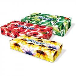 Soft & Easy chusteczki 2-warstwowe Kwiaty 80 sztuk Kartonik
