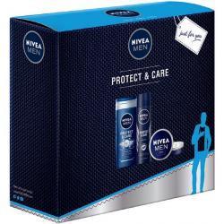 Nivea MEN zestaw Protect & Care krem + dezodorant + żel pod prysznic